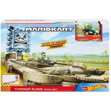 Игрален комплект Mattel Hot Wheels - Супер Марио Thwomp Ruins Track Set -1