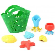 Играчки за баня Green Toys - Tide Pool Bath Set, 7 части -1
