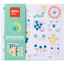 Игра със стикери Apli - Животни -1