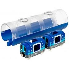 Игрален комплект Brio - Метро влакче и тунел -1