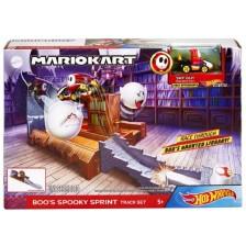 Игрален комплект Mattel Hot Wheels - Супер Марио Boo's Spooky Sprint Track Set -1