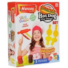 Игрален комплект Heroes Play Dough - За приготвяне на Хот-Дог -1
