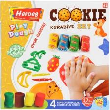 Игрален комплект Heroes Play Dough - Бисквитки -1