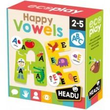 Игрален комплект Headu Happy Vowels - Щастливи гласни букви -1