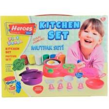 Игрален комплект Heroes Play Dough - Кухня -1