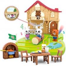 Игрален комплект Ocie Forest Diary -  Горска къща с фигурки -1