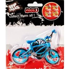 Играчка за пръсти Grip&Trick - Finger BMX Stunt, синя -1