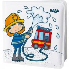 Играчка за баня Haba - Магическа книжка, Пожарникари -1