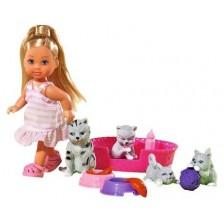 Игрален комплект Simba Toys Evi Love - Еви приятел на животните, с котенца -1