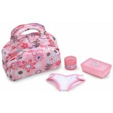 Игрален комплект Melissa & Doug - Чантичка за пелени, розова -1