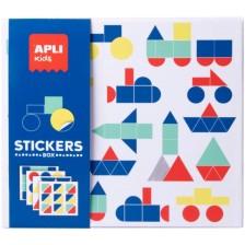 Игра със стикери Apli - Транспорт -1