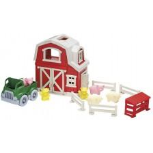 Игрален комплект Green Toys - Ферма-къщичка , 12 части -1