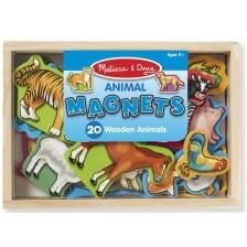 Игрален комплект Melissa & Doug - Магнитни дървени животни -1