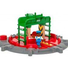 Играчка Brio - Подвижна железопътна станция, с фигура -1