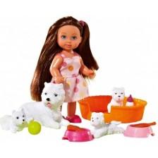 Игрален комплект Simba Toys Evi Love - Еви приятел на животните, с кученца -1