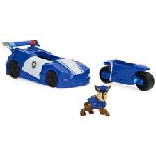 Игрален комплект Spin Master Paw Patrol - Чейс, с трансформираща се кола-мотор -1