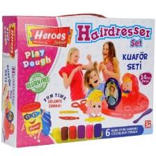 Игрален комплект Heroes Play Dough - Фризьор -1