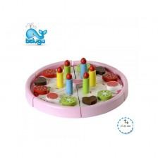 Играчка от дърво Beluga - Плодова торта -1