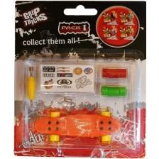 Играчка за пръсти Grip&Trick - Penny Board, оранжева -1