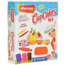 Игрален комплект Heroes Play Dough - За приготвяне на кексче -1