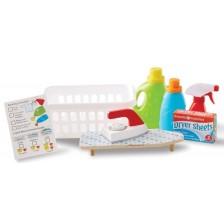 Игрален комплект Melissa & Doug  - Кош за пране и препарати -1