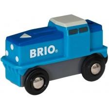 Играчка Brio - Карго локомотив, син -1