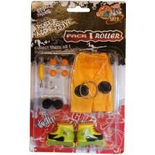 Играчкa за пръсти Grip&Trick - Ролери, жълти -1