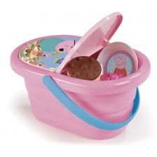 Игрален комплект Smoby Peppa Pig - Кошница за пикник с прибори -1