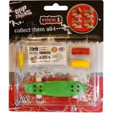 Играчка за пръсти Grip&Trick - Penny Board, зелен -1