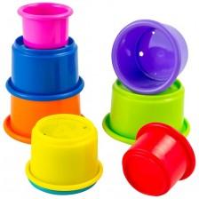 Играчка за сортиране Lazame - Чаши, 8 броя -1