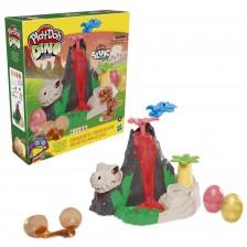 Игрален комплект Hasbro Play-Doh - Вулкан на остров от кости -1