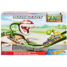 Игрален комплект Mattel Hot Wheels - Супер Марио Piranha Plant Slide Track Set -1