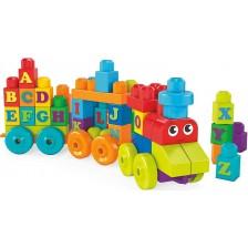 Игрален комплект Mega Bloks - Влакче с английската азбука -1