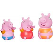 Играчка за баня Tomy Toomies - Прасенцето Пепа, Джордж и мама -1