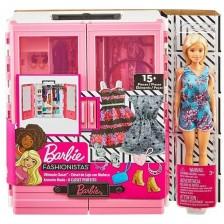 Игрален комплект Mattel Barbie - Гардероб с аксесоари -1