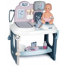 Игрален комплект Smoby - Baby Care Center, с пишкаща кукла -1