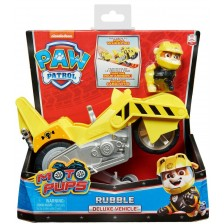 Играчка Spin Master Paw Patrol Moto Pups Deluxe - Рабъл, с мотор -1