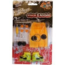 Играчкa за пръсти Grip&Trick - Ролери, черено - жълти -1