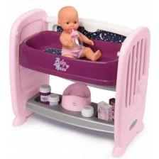 Игрален комплект Smoby - Кошара за кукли и легло за повиване 2 в 1 -1