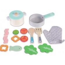 Игрален комплект Moni - Дървен сет за кухня -1