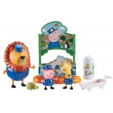 Игрален комплект Peppa Pig - Парти Зоопарк, с 3 фигури -1