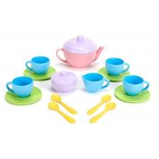 Игрален комплект Green Toys - Сервиз за чай, 17 части -1