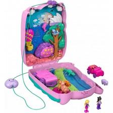 Игрален комплект Mattel Polly Pocket - Чанта коала, с микрокукли и аксесоари -1