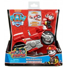 Играчка Spin Master Paw Patrol Moto Pups Deluxe - Маршал, с мотор -1