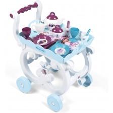 Игрален комплект Smoby Frozen 2 - Сервиз за чай, с количка и аксесоари -1