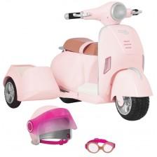Игрален комплект Our Generation - Мотоциклет с кош -1