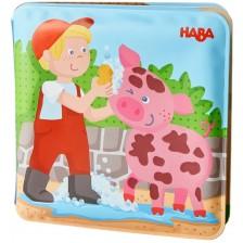 Играчка за баня Haba - Магическа книжка, Ферма -1