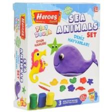 Игрален комплект Heroes Play Dough - Морски животинки -1