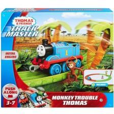 Игрален комплект Fisher Price - Влакчето Томас и палавата маймунка -1
