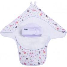 Интерлок завивка с предпазител за кръста Sevi Baby - Динозавърчета -1